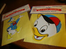 2 Disney DONALD DUCK Dimension Sticker Self-Stick Applique 3-D-Cals decals