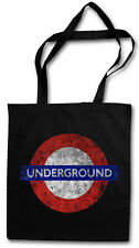 London Underground Hipster BAG-BORSA TESSUTO STOFFA BORSA A SACCO-Inghilterra UK NEW