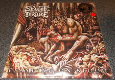 SEVERE TORTURE-FEASTING ON BLOOD-2015 LP DIEHARD RED VINYL-100 ONLY+INSERT-NEW