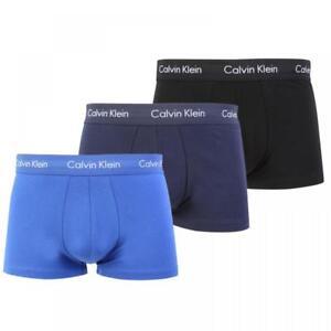 Calvin Klein 100% Authentic Men's Boxer Shorts Trunks – 3 Pack Blue/Navy/Black