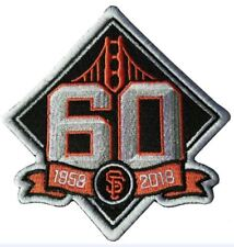 SAN FRANCISCO GIANTS PATCH 60TH ANNIVERSARY TEAM STYLE JERSEY MLB WORLD SERIES