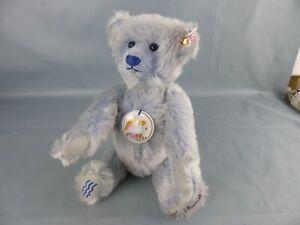 STEIFF ours en peluche mohair teddy Archie 30 cm bleu Goldilocks N° 240 / 2004
