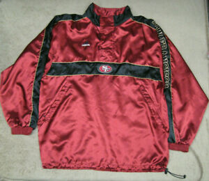SAN FRANCISCO 49ERS NFL ADIDAS RED / GOLD / BLACK PULLOVER JACKET - SIZE X-LARGE