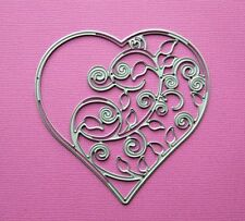 Die cutting - matrice de coupe - coeur fleurie - mariage valentines - heart