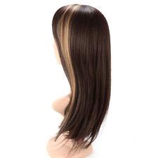 Perruques et toupets bruns raides pour femme