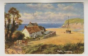 Cornwall postcard - Porth, Newquay by R Gallon - P/U 1907 (A1795)