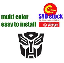 TRANSFORMER AUTOBOT car laptop DIY sticker decal design multi color 20cm