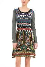 Desigual brand. Multi-color long sleeve dress. US size small. EUR size medium.