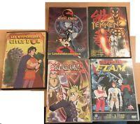 LOT DE 5 DVD LES MYSTERIEUSES CITES D'OR YU GI OH MORTAL KOMBAT CAPITAINE FLAM T