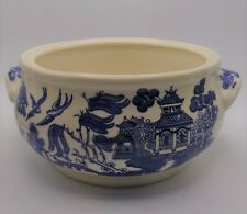 CHURCHILL BLUE WILLOW STAFFORDSHIRE ENGLAND CASSEROLE WITHOUT LID