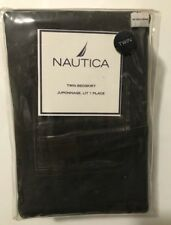 Nautica Santa Cruz Olive Green Twin Bed Skirt Pockets
