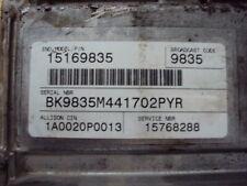 01-05 CHEVY SILVERADO 2500 3500 6.6L 15768288 ALLISON TCM TRANS COMPUTER