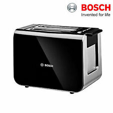 Bosch TAT8613GB Styline 2 Slice Toaster Black Variable Browning Control