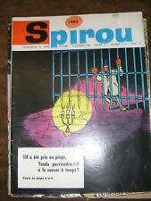 Spirou N° 1483 1966 BD Tif et Tondu Gaston Lagaffe Gil Jourdan Whamoka Sandy