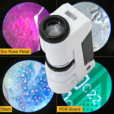 Swift 50X Zoom Kids Mini Magnifying Loupe Pocket Microscope w/ Led Light Science
