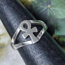 Solitäre Unisex Ringe ohne Steine aus Sterlingsilber mit echtem Edelmetall