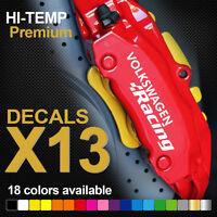 compatible VW RACING GTI R32 R36 HI-TEMP PREMIUM BRAKE CALIPER DECALS STICKERS