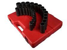 Sunex 2827 26 Piece 1/2 Drive 12 Point Metric Deep Impact Socket Set
