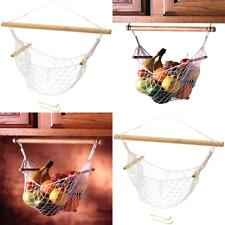 Under cabinet fruit and veggie hammock net holder storage banana kitchen gift