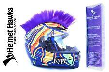 Helmet Hawks ™ Mohawk Royal Purple Motorcycle Bike BMX Helmet Mohawks