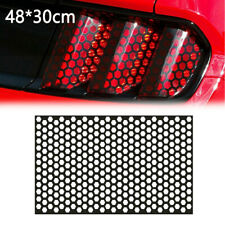 1x Car Rear Tail Light Cover Honeycomb Black Sticker Tail-lamp Decal Accessories