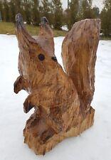 Eichhörnchen Holz Kettensäge Motorsäge Schnitzen Kunst Unikat Geschenk Frühling