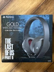 Limited Edition PS4 The Last of Us Part 2 Gold Wireless Headset🎧. Ships Fast!