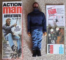 Vintage Action Man 40th Nude Nu poupée de préhension Mains floqué Cheveux Marron 1//6