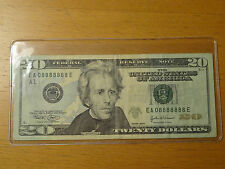 Lucky 2004 $20 Federal Note Fancy Near Solid 8 Serial 8888888 8888 88888 888888
