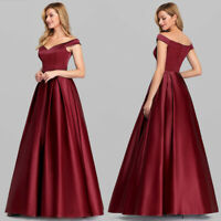 Ever-Pretty Off Shoulder V-Neck Long Evening Party Dresses Homecoming Prom Gowns