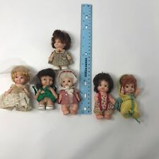 Lot Of 6 Vintage Dolls Uneeda Pee Wee Babies