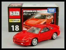 TOMICA PREMIUM 18 MITSUBISHI GTO TWIN TURBO 1/63 TOMY DIECAST CAR NEW RED