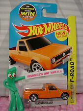 New! 2015 Hot Wheels VOLKSWAGEN CADDY #124∞Orange VW Truck;5sp∞Hot Trucks∞Case F