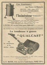 W0788 La tondeuse à gazon QUALCAST - A. V. MAYER - Pubblicità 1928 - Advertising