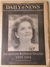 JACQUELINE KENNEDY ONASSIS DIES New York Daily News May 20, 1994  newspaper