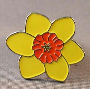 Daffodil  pin  badge.
