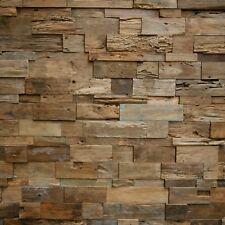 """1 Musterstück """"INDO"""" TEAK Holz  Wandverblender, Verkleidung, Paneele, Riemchen"""