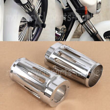 Motorcycle Chrome Fork Boot Slider Cover For Harley Touring 84-13 Electra Glide