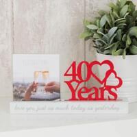 "40TH WEDDING ANNIVERSARY PHOTO FRAME - 4"" X 4""  WG100740"