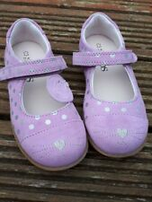 M&S Girls violet Suede Shoes Cat Toe uksize 11-bn