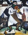 Marc Chagall Lithograph The Fiddler / De Violist Poster Circa 1990's