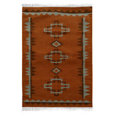 Navajo Kilim Hand-Woven Tribal 3x5 Turkish Kilim Oriental Area Rug Carpet 3'x5'