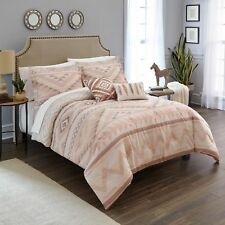 Southwest Comforter Set Tribal Feather Lodge Native Full/Queen 5PC Bedding