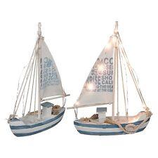 Segelschiff Deko Holz mit 13 LED's Maritim Dekoartikel MEER Schiff Boot Lampe