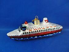 Cruise Ship Travel Glass Merck Old World Christmas Tree Ornament NWT 46030