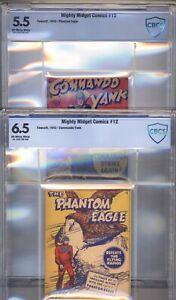 2 X Mighty Midget Comics #12 CBCS  5.5/6.5 1943  Rare - CBCS Error - Discounted!