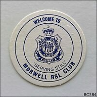 Morwell RSL Club Peacock & Smith A W Chesterton Mechanical Seals Coaster (B384)