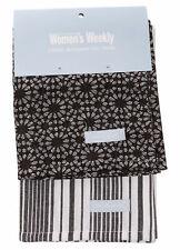 2 Pack Tea Towel Pack | Cook The Australian Women's Weekly | 100% Cotton | Black