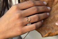 Diamant Solitär Ring 1 Brillant 0,065 ct FILIGRAN 585er 14 K Gold IGL Wert 500€