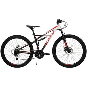 """Men's 27.5"""" Oxide Mountain Off Road Trail Bike 21-Speed Bicycle, Dual Suspension"""